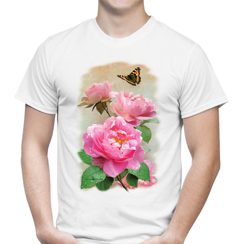Blooming Roses Art T-Shirt