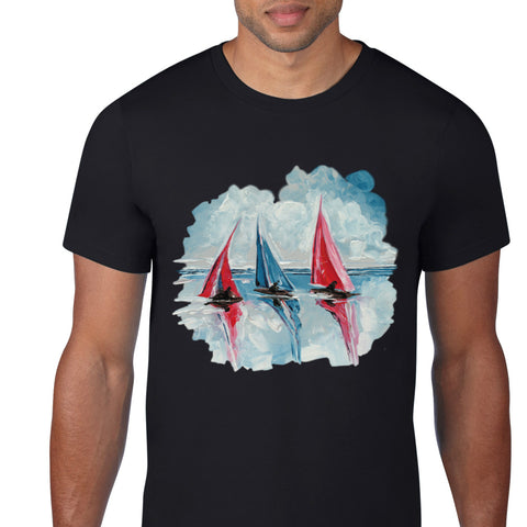 Sailing Boat Art T-Shirt