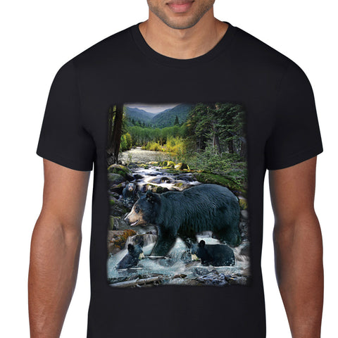 Bear By The River T-Shirt