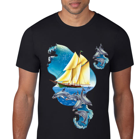 Sailboat And Dolphin T-Shirt