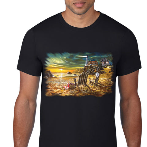 Picnic By The Lighthouse T-Shirt
