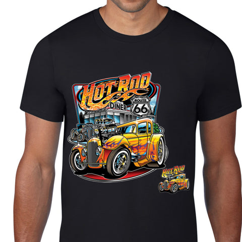 Hot Rod Diner Route 66 T-Shirt