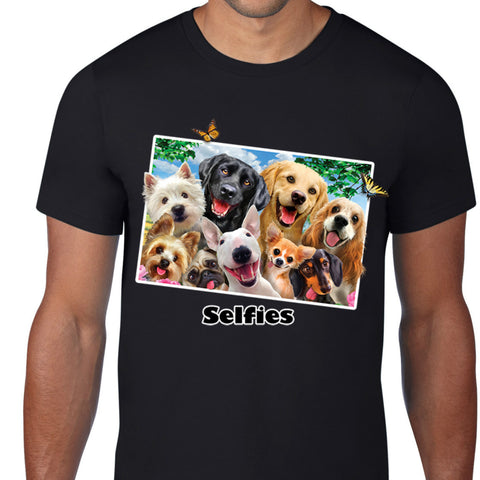 Dog Selfies Art T-Shirt
