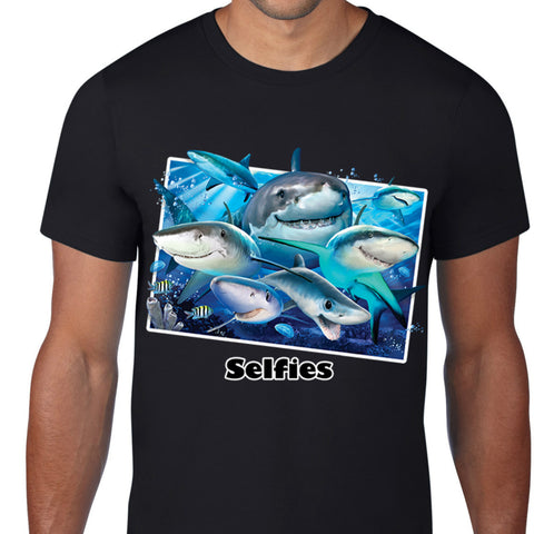 Shark Selfies Art T-Shirt