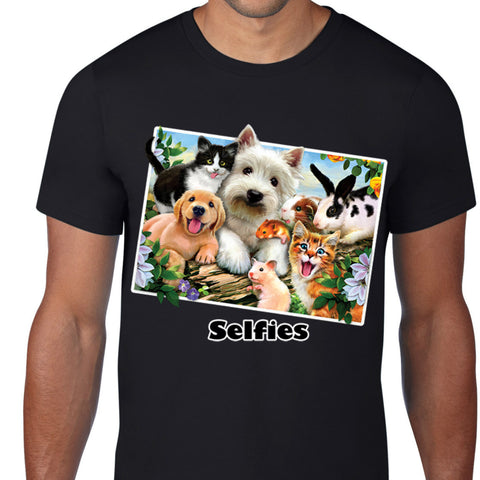Pet Animals Selfies Art T-Shirt