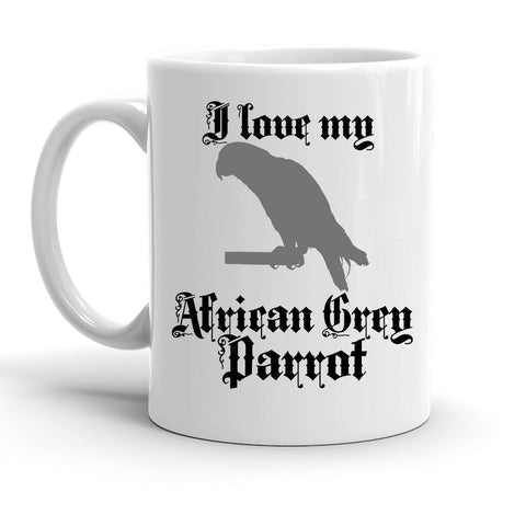 Custom Personalized African Grey Parrot White 15 oz Coffee Mug