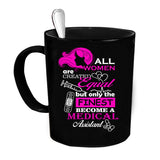Custom Personalized All Women Are Created Equal Black 15 oz Coffee Mug