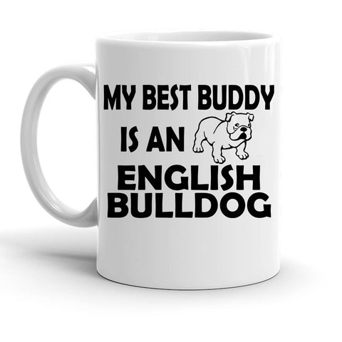 Custom Personalized Best Buddy English Bulldog White 15 oz Coffee Mug