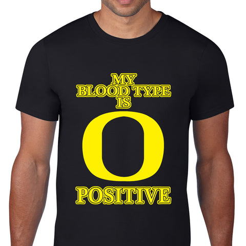 Bloodtype Is O Positive Black T-Shirt