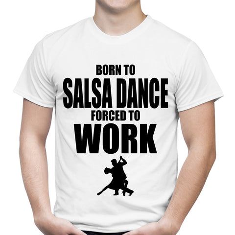 Born To Salsa Dance White T-Shirt