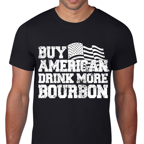 Buy American Drink Bourbon Black T-Shirt