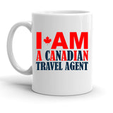 Custom Personalized Canadian Travel Agent White 15 oz Coffee Mug