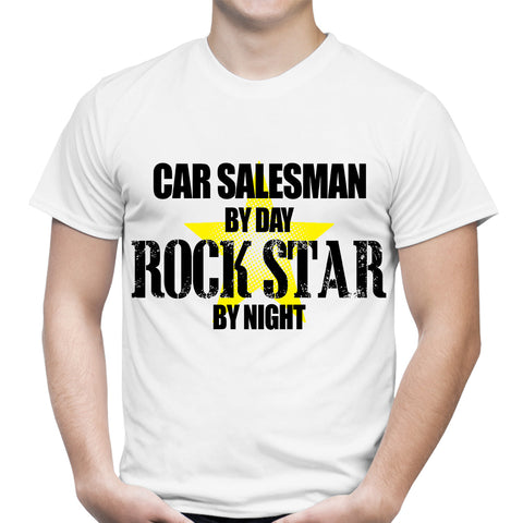 Car Salesman Rocker White T-Shirt