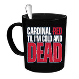 Custom Personalized Cardinal Red Black 15 oz Coffee Mug