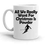 Custom Personalized Christmas Powder White 15 oz Coffee Mug