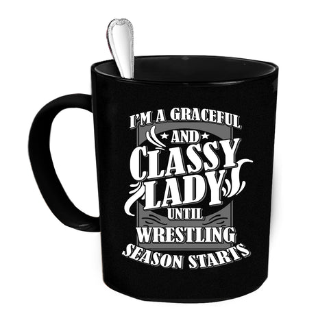 Custom Personalized Classy Lady Black 15 oz Coffee Mug