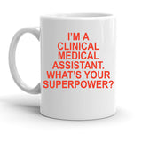Custom Personalized Clinical Medical Assistant White 15 oz Coffee Mug