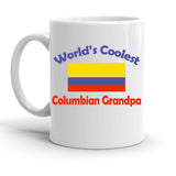 Custom Personalized Columbian Grandpa White 15 oz Coffee Mug