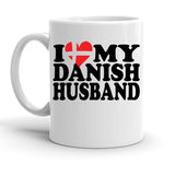 Custom Personalized Danish Husband White 15 oz Coffee Mug
