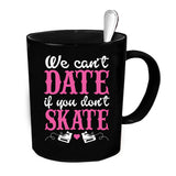 Custom Personalized Date We Skate Black 15 oz Coffee Mug