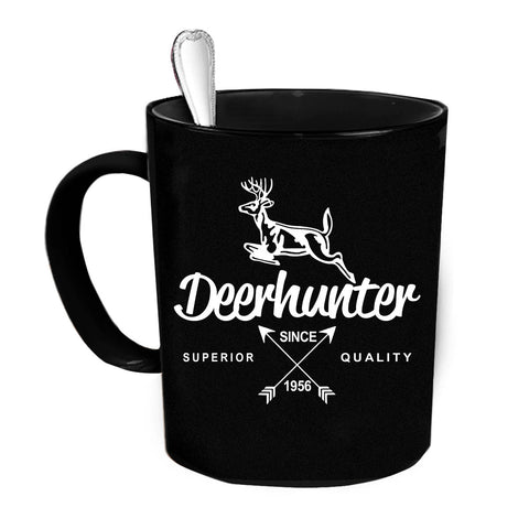 Custom Personalized Deerhunter Quality Black 15 oz Coffee Mug