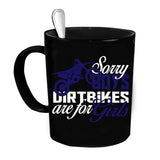 Custom Personalized Dirtbike Are For Girls Black 15 oz Coffee Mug