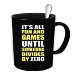 Custom Personalized Divides By Zero Black 15 oz Coffee Mug