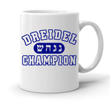 Custom Personalized Dreidel Champion White 15 oz Coffee Mug