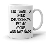 Custom Personalized Drink Chardonnay Take Naps White 15 oz Coffee Mug