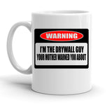 Custom Personalized Drywall Guy White 15 oz Coffee Mug