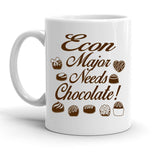 Custom Personalized Econ Major Needs Chocolate White 15 oz Coffee Mug