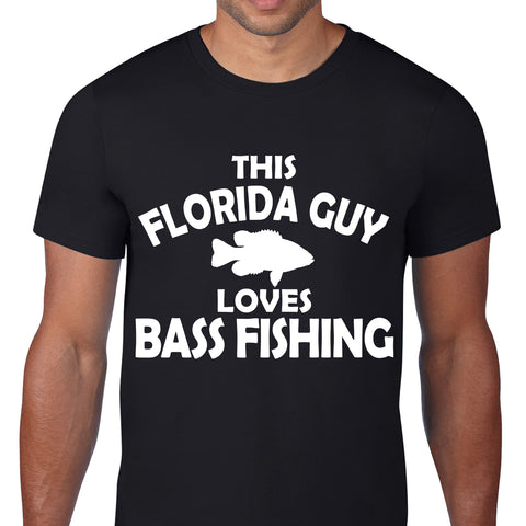 Florida Bass Fishing Black T-Shirt