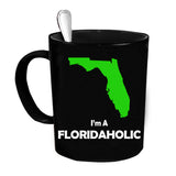Custom Personalized Floridaholic Black 15 oz Coffee Mug