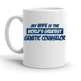 Custom Personalized Genetic Counselor Wife White 15 oz Coffee Mug