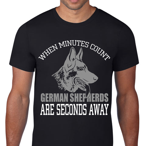 German Shepherds Seconds Away Black T-Shirt