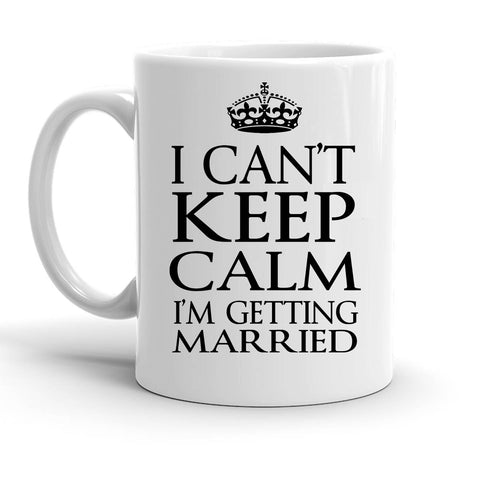 Custom Personalized Getting Married White 15 oz Coffee Mug