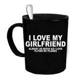 Custom Personalized Girlfriend RC Plane Black 15 oz Coffee Mug