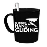 Custom Personalized Hang Gliding Black 15 oz Coffee Mug