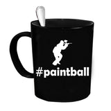 Custom Personalized Hashtag Paintball Black 15 oz Coffee Mug