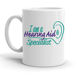 Custom Personalized Hearing Aid Specialist White 15 oz Coffee Mug
