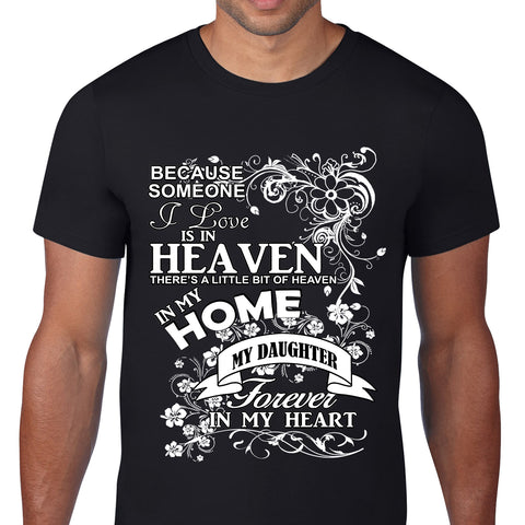 Heaven In My Home Daughter Black T-Shirt