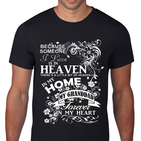 Heaven In My Home Grand dad Black T-Shirt