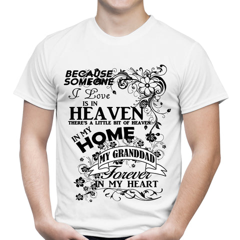 Heaven In My Home Grand dad White T-Shirt