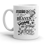 Custom Personalized Heaven In My Home Grand dad White 15 oz Coffee Mug