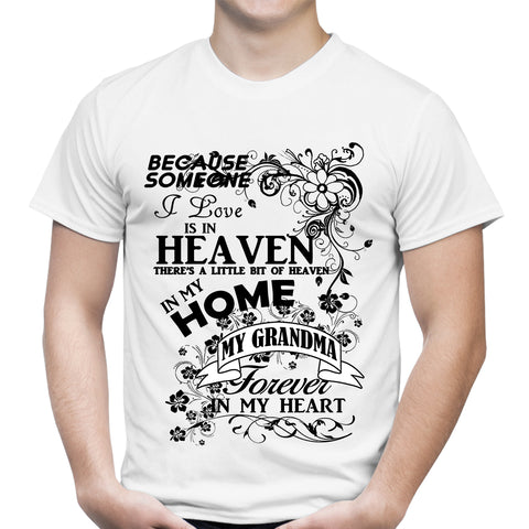 Heaven In My Home Grandma White T-Shirt