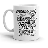 Custom Personalized Heaven In My Home Papa White 15 oz Coffee Mug