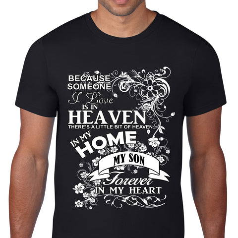 Heaven In My Home Son Black T-Shirt