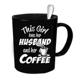 Custom Personalized Husband And Coffee Black 15 oz Coffee Mug