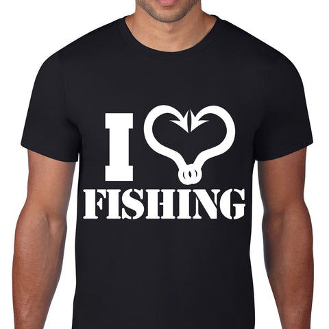 I Heart Fishing Black T-Shirt