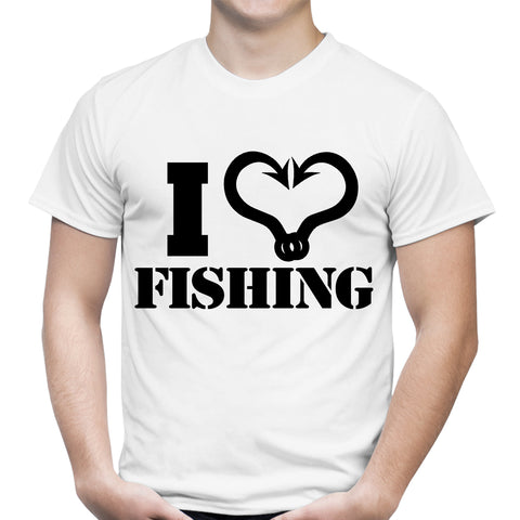 I Heart Fishing White T-Shirt